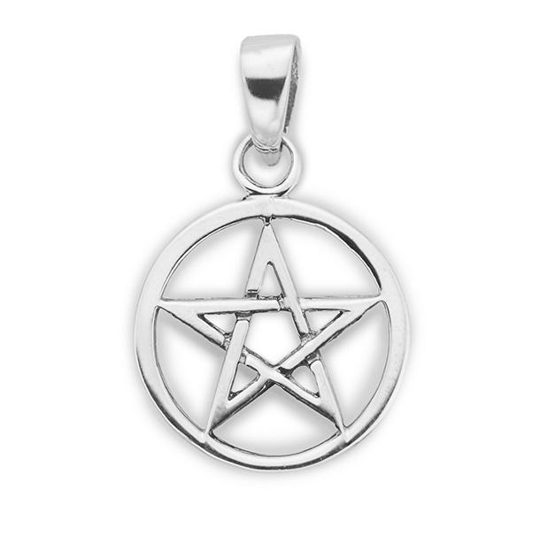 Stříbrný přívěsek pentagram 8db400bdb63